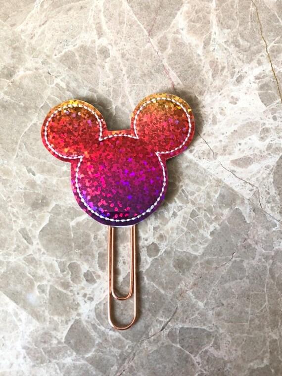 Rainbow Vinyl Mouse Clip/Planner Clip/Bookmark. Mouse Planner Clip. Castle Planner Clip. Glitter Planner Clip. Magical Planner Clip