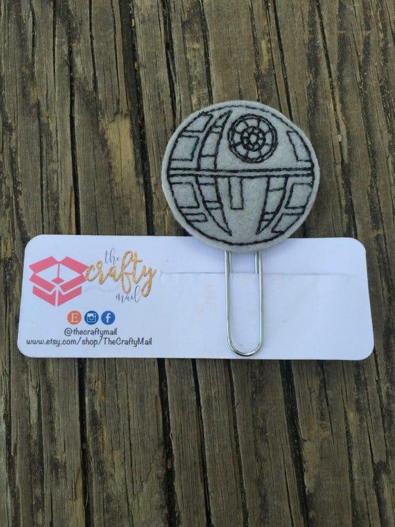 Death Star Planner Clip/Bookmark. Star Wars planner clip