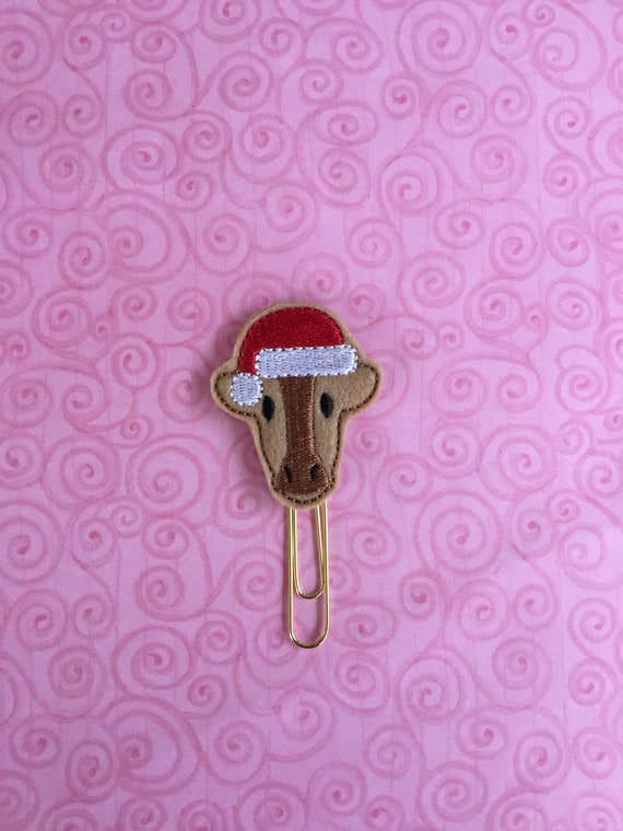 Santa Cow Clip/Planner Clip/Bookmark. Cow Planner Clip. Christmas Planner Clip. Santa Planner Clip. Animal Planner Clip