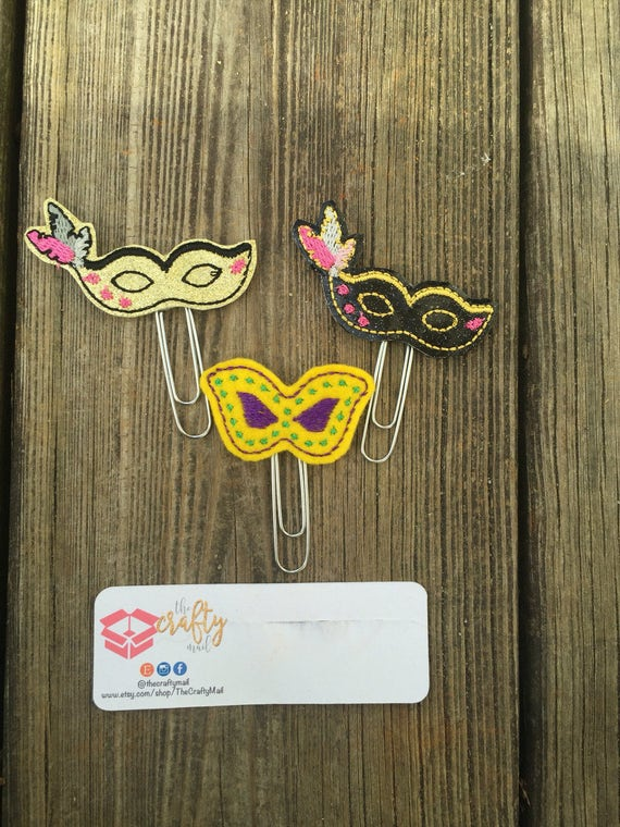 Mardi Gras Planner Clip/Planner Clip/Bookmark. 3 styles to choose from