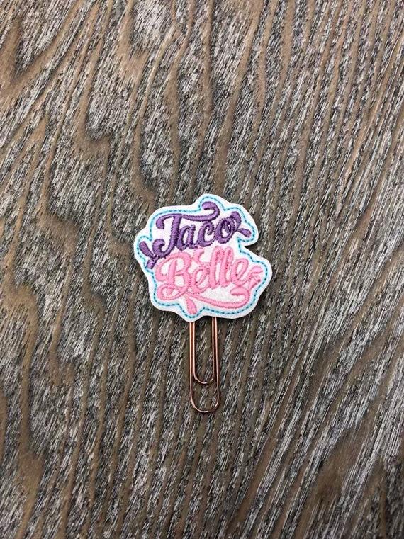 Taco Belle Clip/Planner Clip/Bookmark. Princess Coffee Cup. Belle Planner Clip. Taco Planner Clip. Foodie Planner Clip