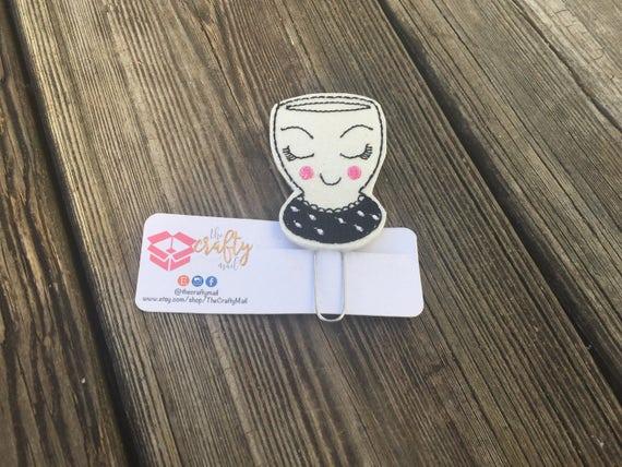 Fancy face cup Planner Clip/Paper Clip/Feltie Clip. Target cup planner clip. Cup planner clip
