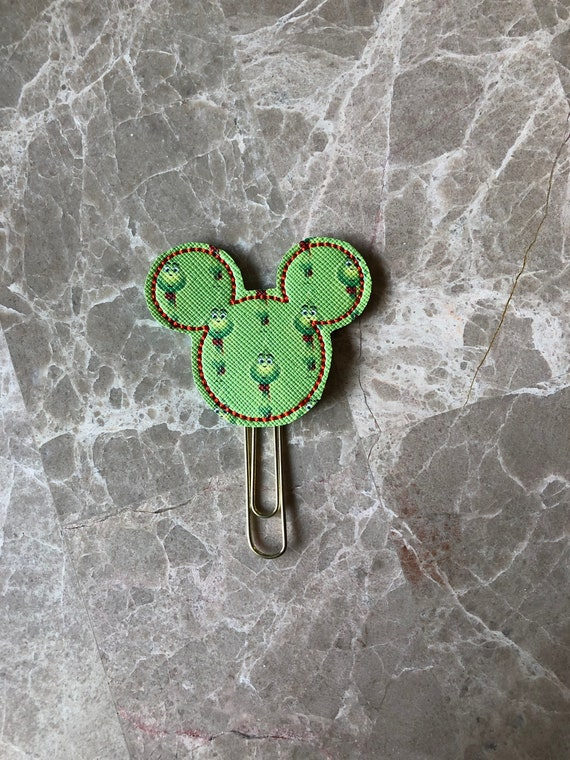 LIMITED EDITION Mean Green Pattern Mouse Planner Clip/Planner Clip/Bookmark. Mouse Planner Clip. Christmas Planner Clip