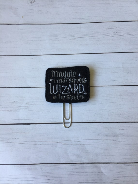 Muggle In The Streets, Wizard In The Sheets Clip/Planner Clip/Bookmark. Harry Potter Planner Clip. Wizard Planner Clip. HP Planner Clip