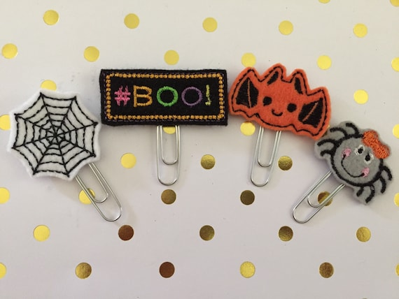 Boo planner Clip Pack/Planner Clip/Bookmark. Fall planner clip/Autumn planner clips/spider planner clip/Halloween planner clips