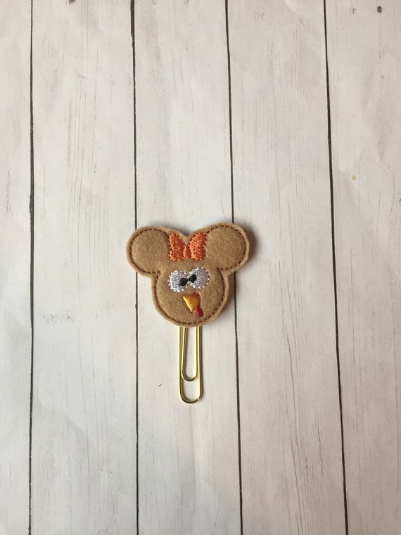 Miss Turkey Mouse Planner Clip. Mouse Planner Clip. Fall Planner Clip. Thanksgiving Planner Clip. Turkey Planner Clip. Minnie Planner clip