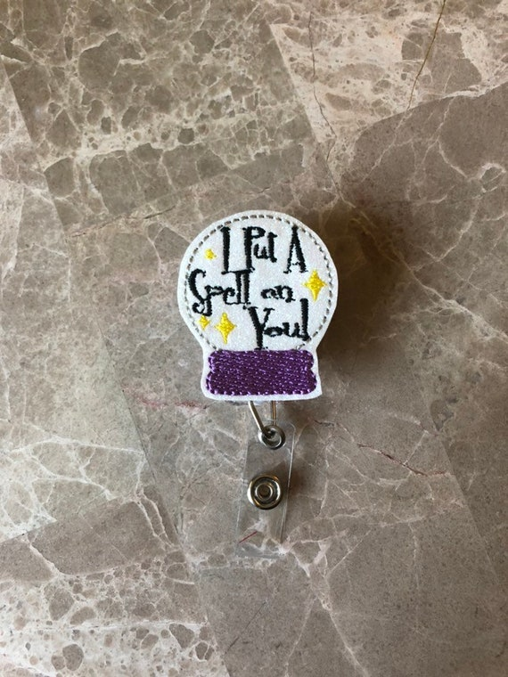 I Put A Spell On You Globe Badge Reel/Fall Badge Reel/Halloween Badge Reel/Nurse Badge Reel/Hocus Pocus Badge Reel