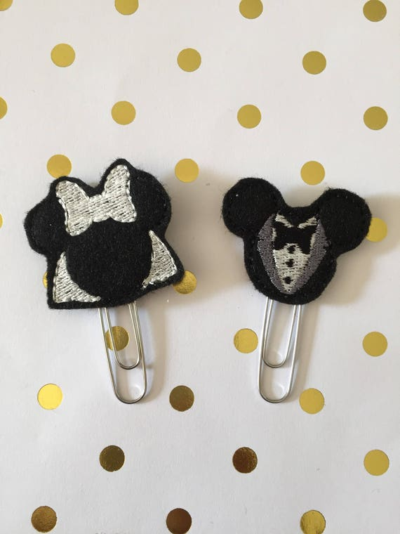 Mr. And Mrs. Mouse planner Clip/Planner Clip/Bookmark. Character Planner Clip. Mouse Planner Clip. Couple planner clip. Wedding planner clip