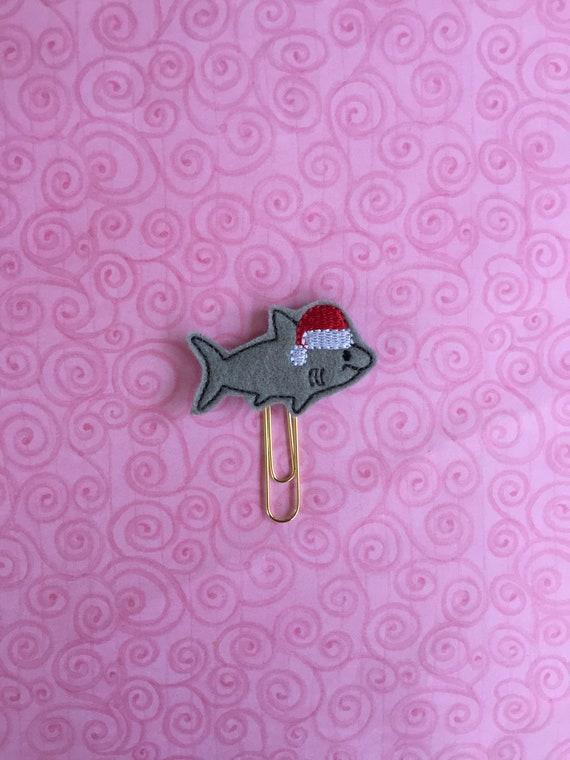 Santa Shark Clip/Planner Clip/Bookmark. Shark Planner Clip. Christmas Planner Clip. Santa Planner Clip. Animal Planner Clip. Fish Planner