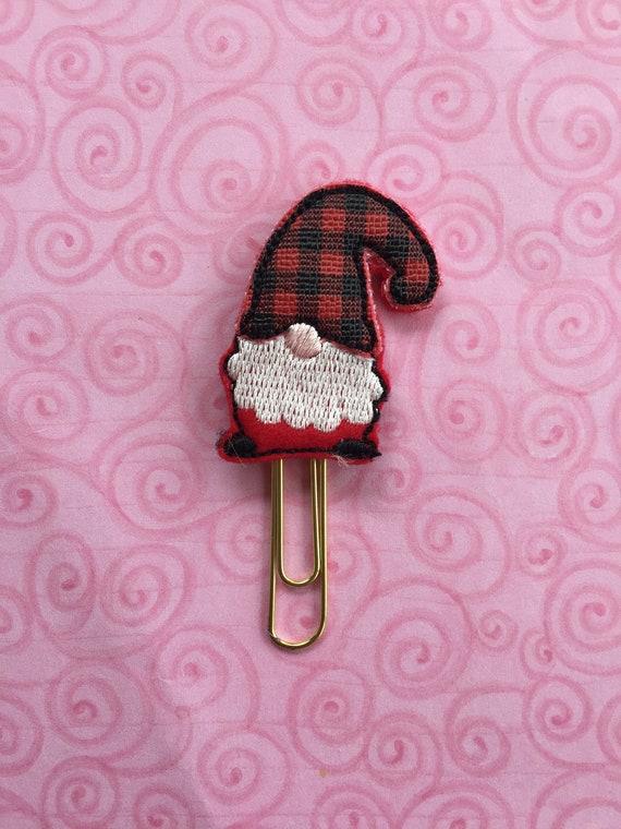 Buffalo Plaid Gnome planner Clip/Planner Clip/Bookmark. Buffalo Plaid Planner. Gnome Planner Clip. Buffalo Plaid Planner Clip