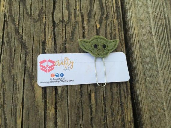 Yoda Planner Clip/Bookmark. Star Wars planner clip
