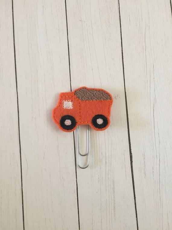 Dump Truck Clip/Planner Clip/Bookmark. Truck Planner Clip. Construction Planner Clip.