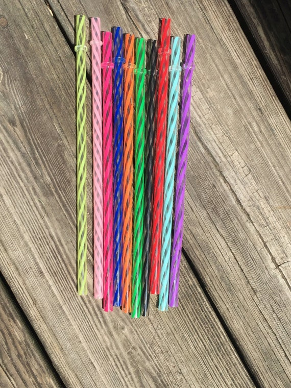 "Reusable 9"" Clear/Swirly Straws/Acrylic Straws/Wholesale Straws/Reusable Straws."