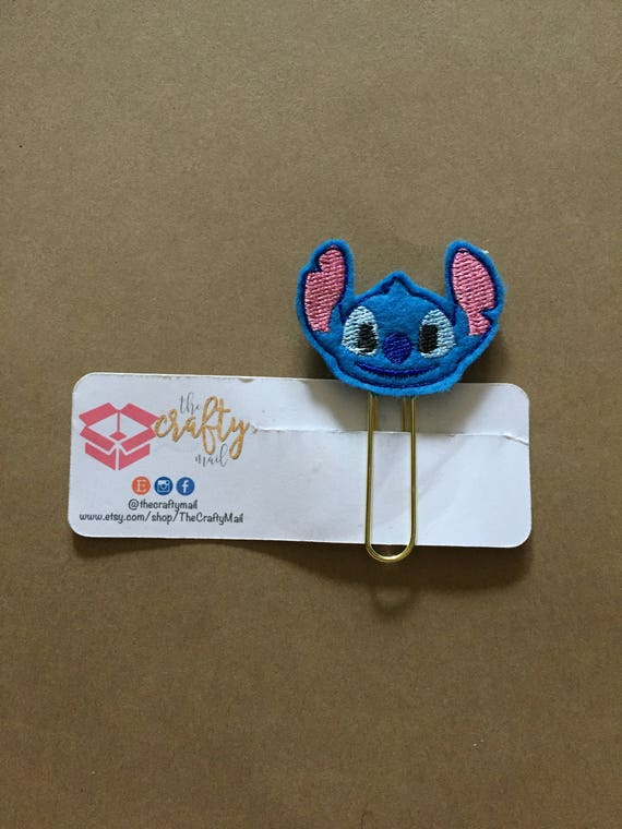 Stitch planner Clip/Planner Clip/Bookmark. Character Planner Clip