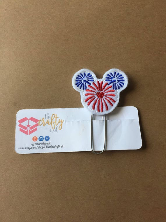 Fireworks Mouse Clip/Planner Clip/Bookmark. Fireworks planner clip. Mouse planner clip