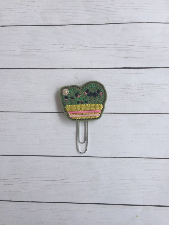 Cactus family planner Clip/Planner Clip/Bookmark. Geeky planner clip