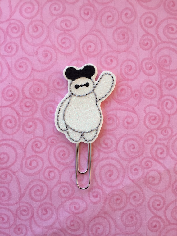 Glitter Baymax with mouse ears planner Clip/Planner Clip/Bookmark. Big Hero 6 Planner Clip. Hero Planner Clip. Super Hero Planner Clip