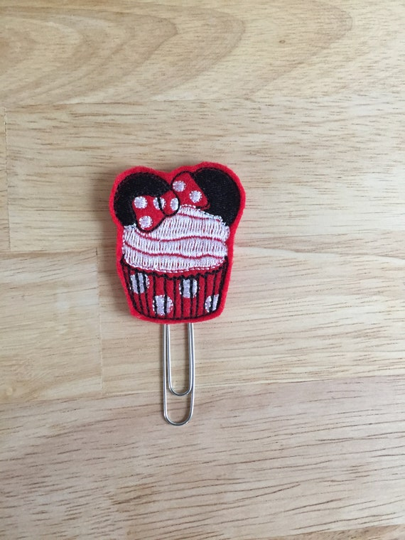 Glitter Vinyl Miss Mouse Cupcake Clip/Planner Clip/Bookmark. Mouse Planner Clip. Cupcake Planner Clip. Cake Planner Clip