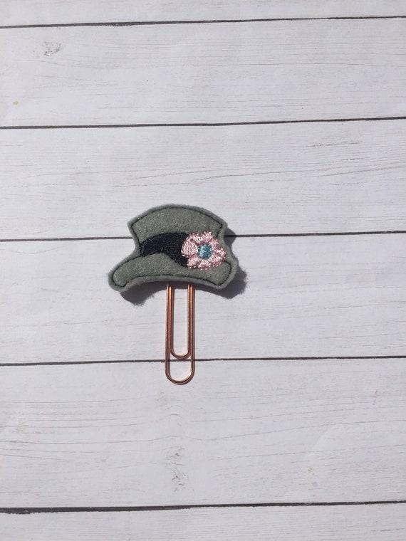 Frosty Hat Clip/Planner Clip/Bookmark. Snowman Hat Planner Clip. Christmas planner clip. Holiday planner clip. Frosty Planner Clip