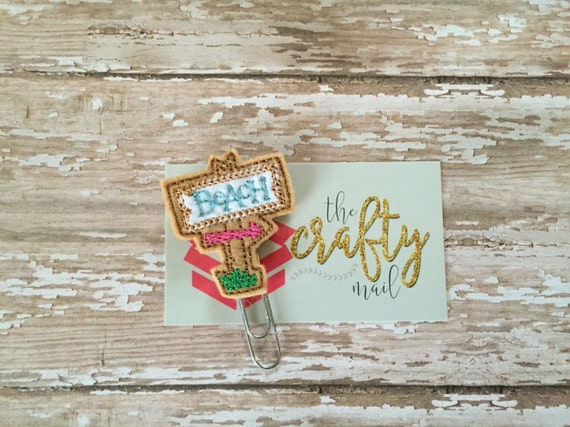Beach Tiki Sign Paper Clip. Summer Planner Clip.