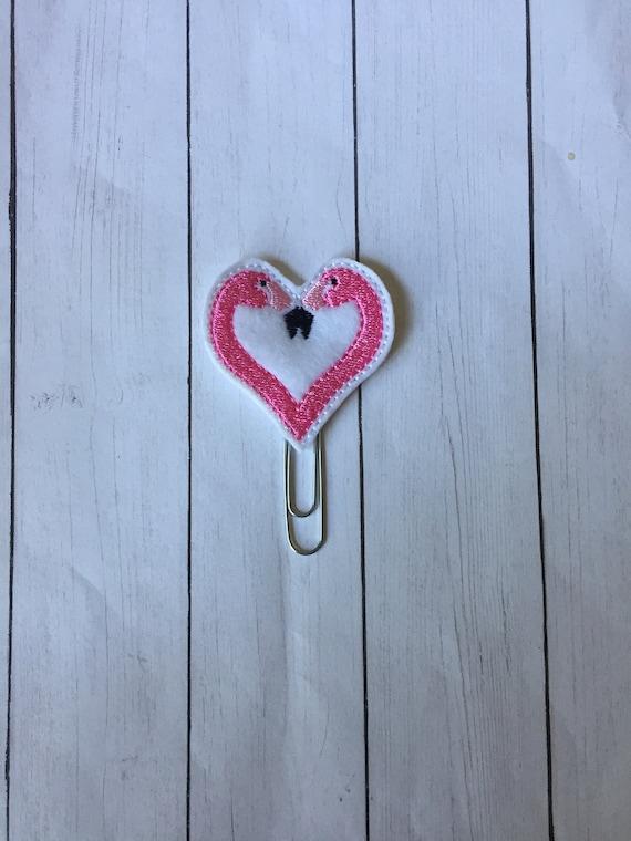 Flamingo Heart Clip/Planner Clip/Bookmark. Flamingo Planner Clip. Animal Planner Clip. Heart Planner Clip. Summer Planner Clip