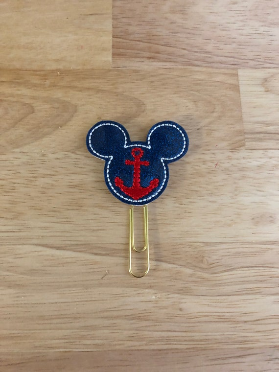 Glitter Vinyl Cruise Mouse Clip/Planner Clip/Bookmark. Mouse Planner Clip. Cruise Planner Clip. Anchor Planner Clip