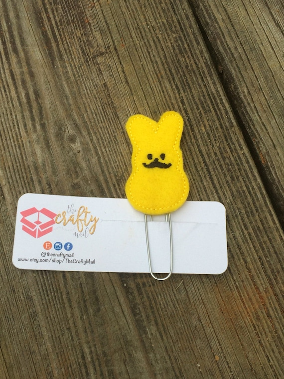 Mustache Bunny Planner Clip/Planner Clip/Bookmark. Easter planner clip