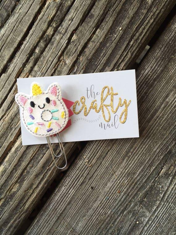Glitter unicorn donut Unicorn Clip/Planner Clip/Bookmark.