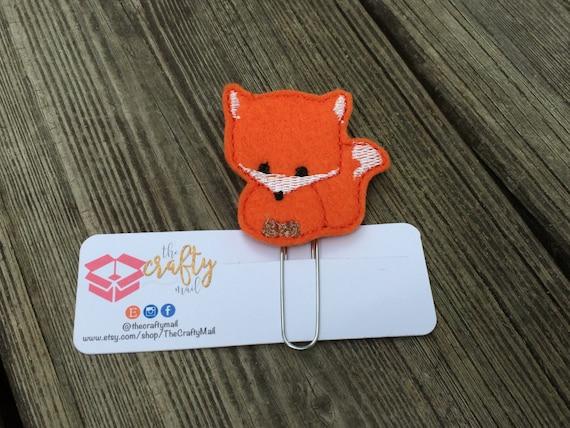 Woodland Fox Planner Clip/Paper Clip/Feltie Clip. Coffee Planner Clip. Halloween Planner Clip. Autumn/Fall Planner Clip