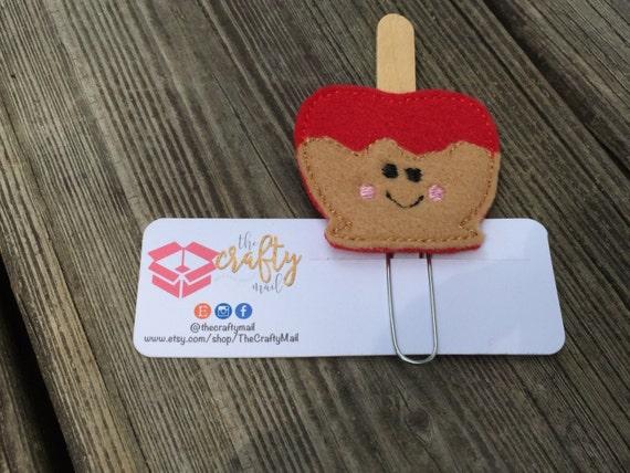 Candy Apple Planner Clip/Paper Clip/Feltie Clip. Fall planner clip