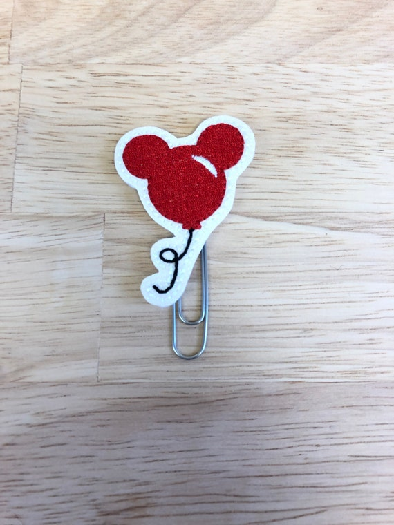 Red Mouse Balloon Clip/Planner Clip/Bookmark. Balloon Planner Clip. Mouse Planner Clip
