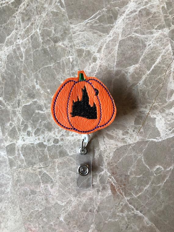 HP Castle Pumpkin Badge Reel/Fall Badge Reel/Halloween Badge Reel/Nurse Badge Reel/Pumpkin Badge Reel/Potter Badge Reel