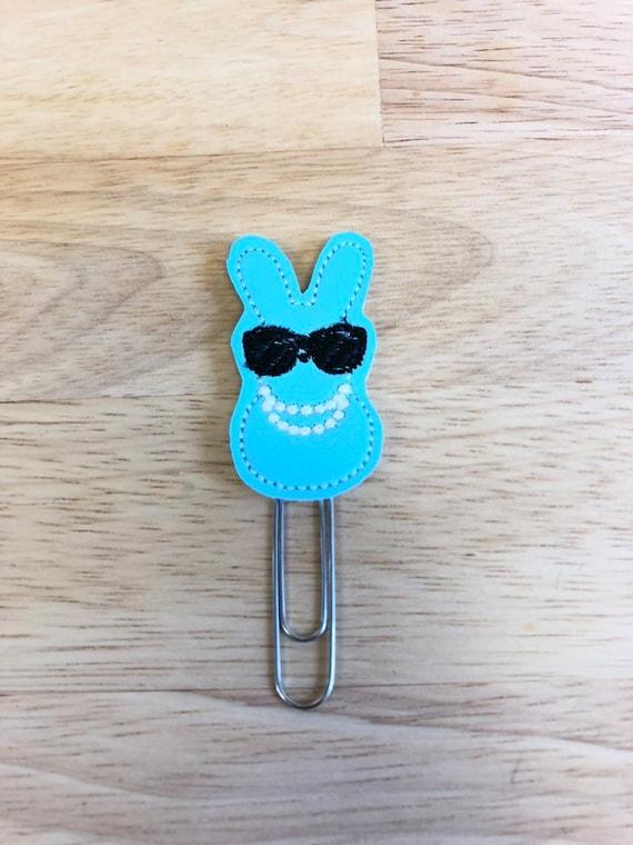 Fancy Peep planner Clip/Planner Clip/Bookmark. Easter Planner Clip. Bunny Planner Clip.