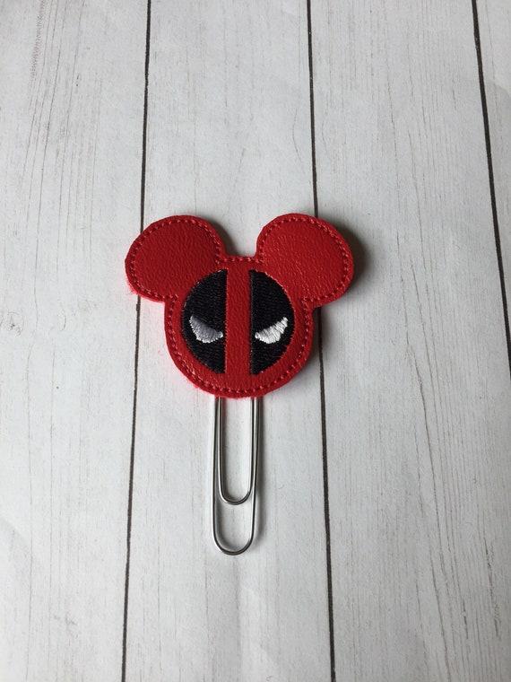 Mr Mouse Deadpool planner Clip/Planner Clip/Bookmark. Deadpool Planner Clip. Mouse Planner Clip. Super Hero Planner