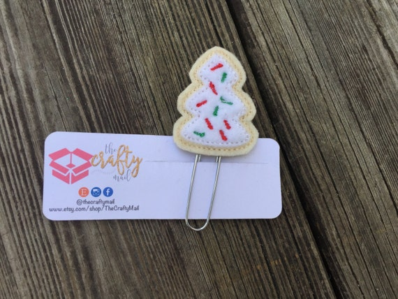 Sugar cookie Paper Clip/planner clip. Christmas planner clips. Christmas tree planner clip