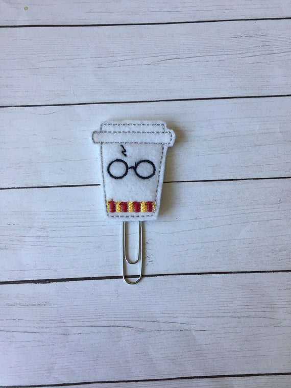 HP To Go Coffee Wizard Boy Clip/Planner Clip/Bookmark. Harry Potter Planner Clip. Wizard Planner Clip. HP Planner Clip. Coffee Planner Clip