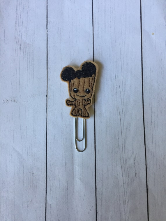 Baby Groot With Mouse Ears Planner Clip. Tree Guy planner Clip/Bookmark. Galaxy planner clip. Guardian planner clip. Groot