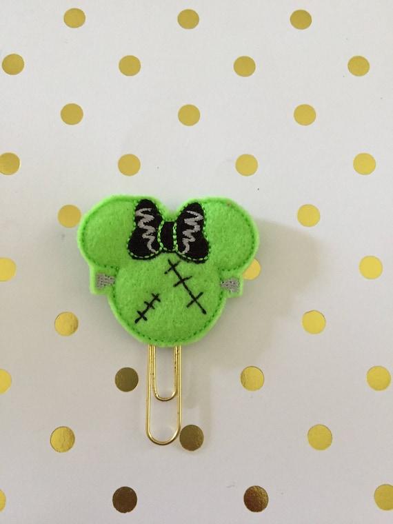 Frakenmouse planner Clip/Planner Clip/Bookmark.Frankenmouse Girl Planner Clip. Halloween Planner Clip. Mouse Planner Clip