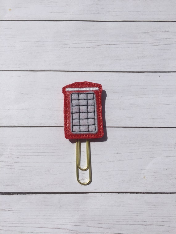 Vinyl London Phone Booth Clip/Planner Clip/Bookmark. London Planner Clip. Phone Booth Planner Clip. Underground Planner Clip.