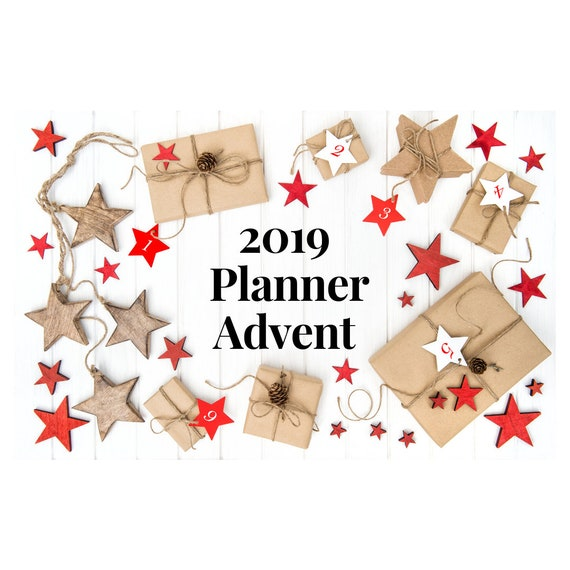 2019 Planner Advent. Advent Calendar. Planner Advent Calendar. Planner Clip. Holiday Planner Clips. Christmas Planner Clips