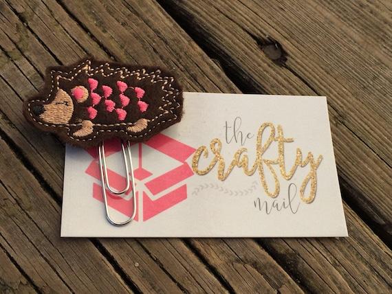Valentine Hedgehog Clip/Planner Clip/Bookmark. Valentine's planner clips
