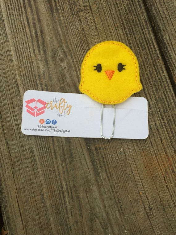 Easter chick Planner Clip/Planner Clip/Bookmark. Easter planner clip