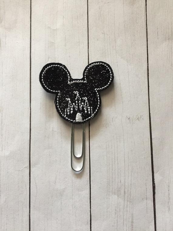 Mouse Castle Clip/Planner Clip/Bookmark. Mouse Planner Clip. Castle Planner Clip. Glitter Planner Clip. Magical Planner Clip