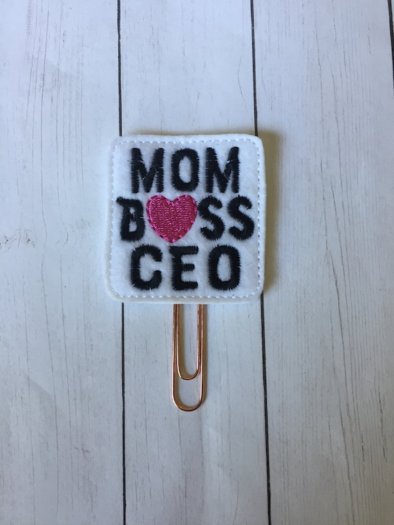 Mom Boss CEO Clip/Planner Clip/Bookmark. Mom Planner Clip. Boss Planner Clip. CEO Planner Clip. Girl Boss Planner Clip