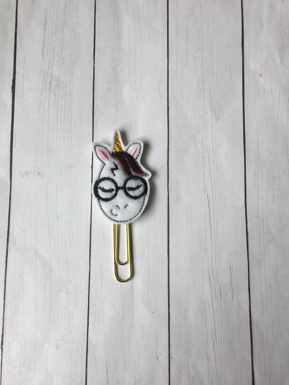 Potter Unicorn Clip/Planner Clip/Bookmark. Harry Potter Planner Clip. Wizard Planner Clip. HP Planner Clip. Unicorn Planner Clip