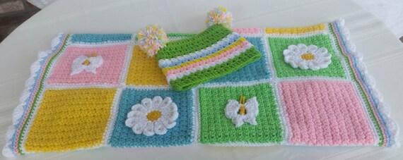 Gehäkelter Blume Decke Babydecke Schmetterling-Decke | Etsy