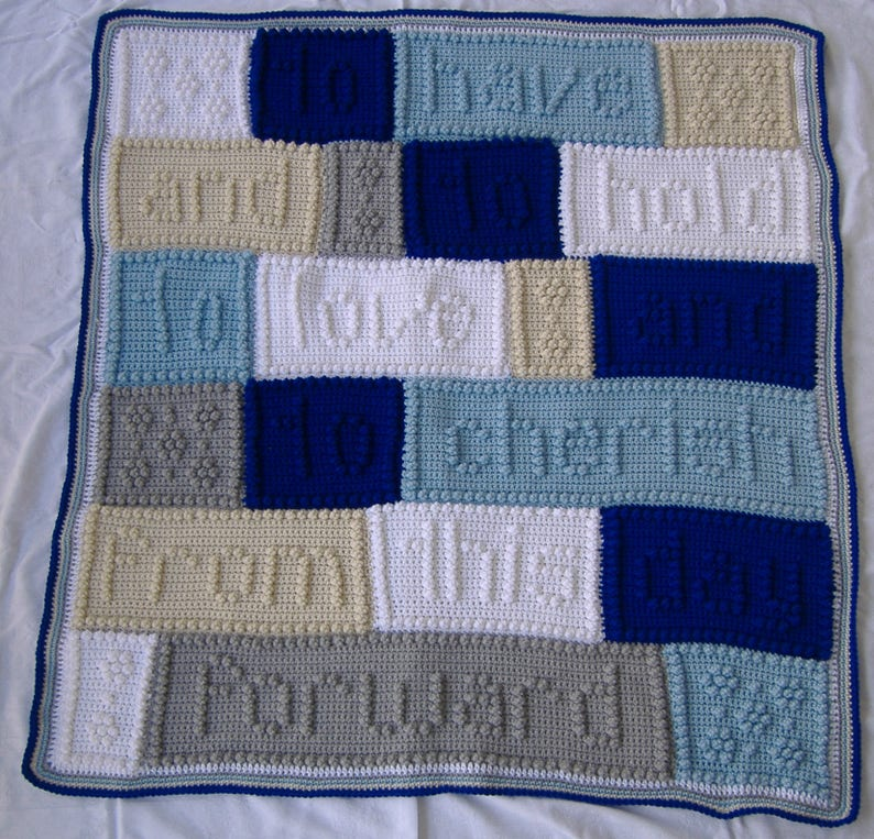Wedding Or Anniversary Blanket Crochet Wedding Vows Blanket Etsy