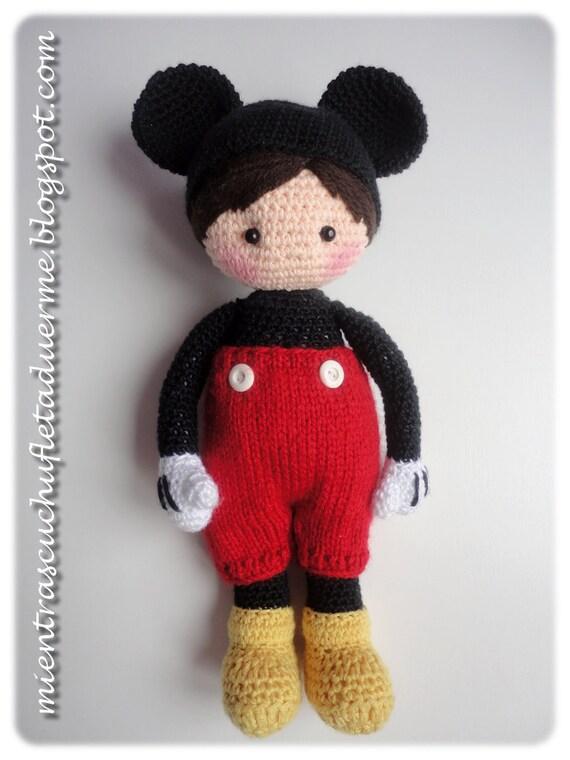 Pattern Crochet Doll Mickey Mouse Inspired Pdf Pattern Etsy