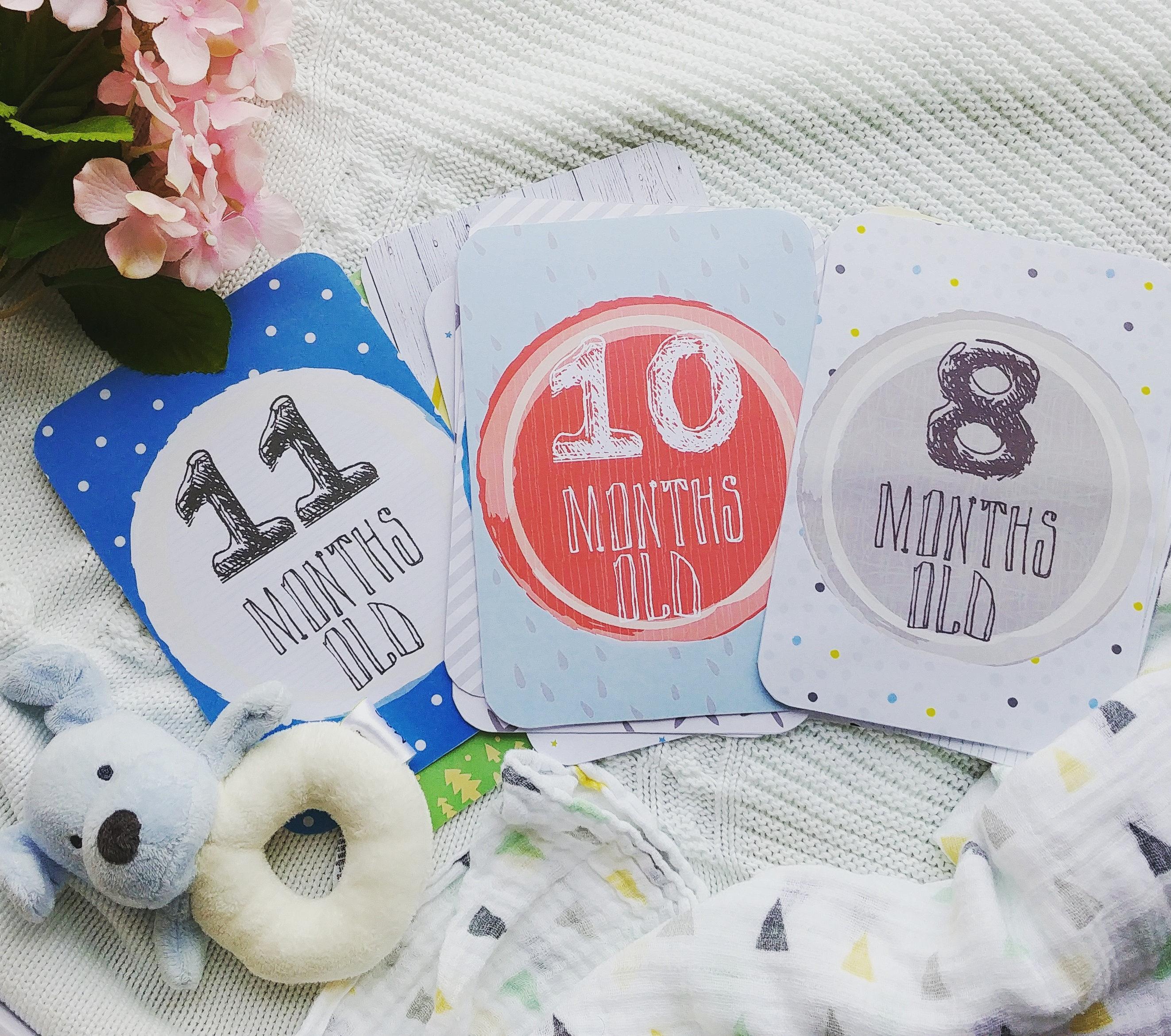Baby Boy Milestone Cards Printable Monthly Photo