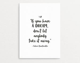 Printable Selena Quintanilla Quote  | Gallery Wall Art Print, Spanish Quote Digital Download, Selena Quote, Digital Download